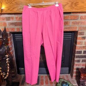 Koret bright pink pants women's plus size 22
